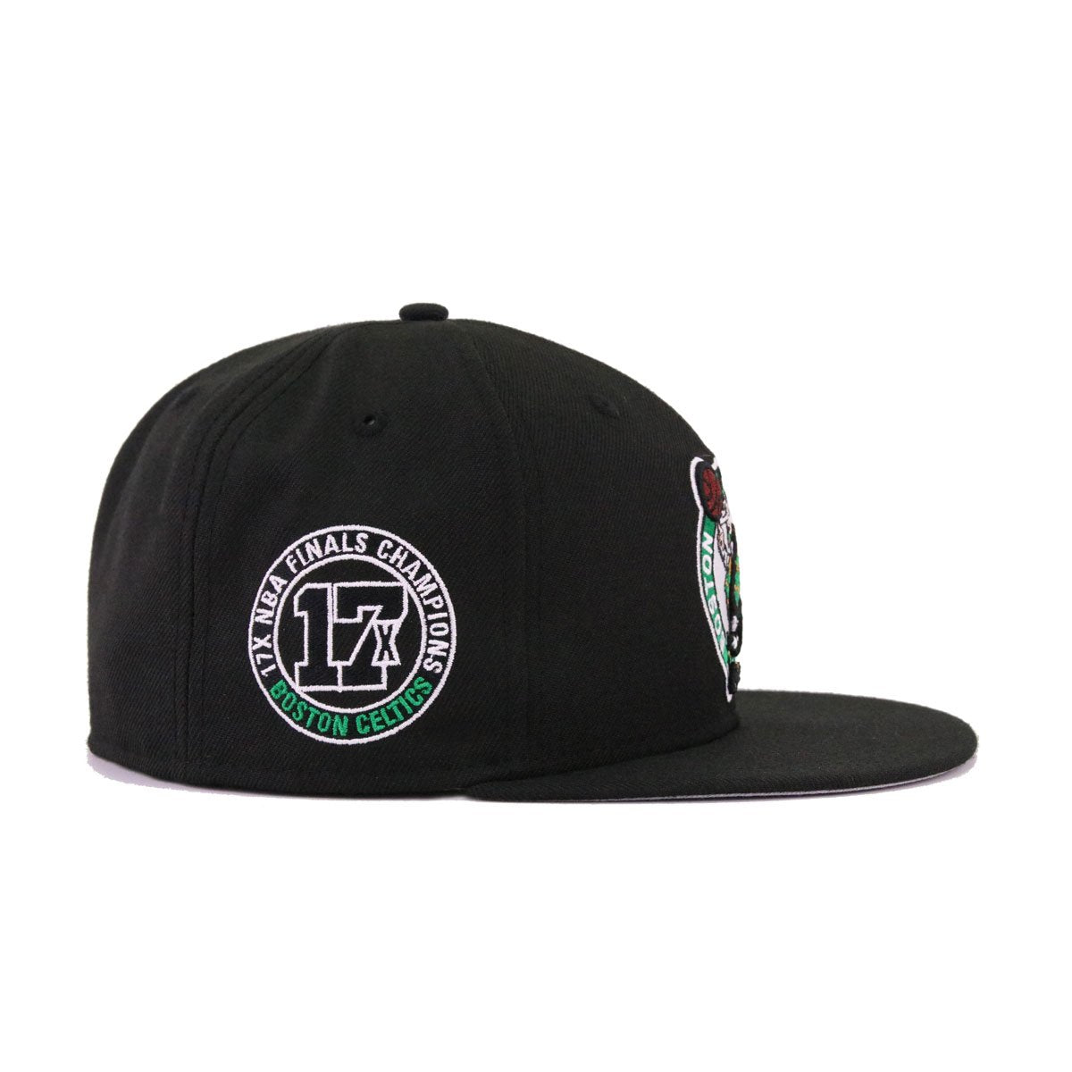 Boston Celtics Black Kelly Green 17x Champions New Era 59Fifty Fitted