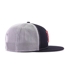 Boston Red Sox Navy White Trucker New Era 9Fifty Snapback