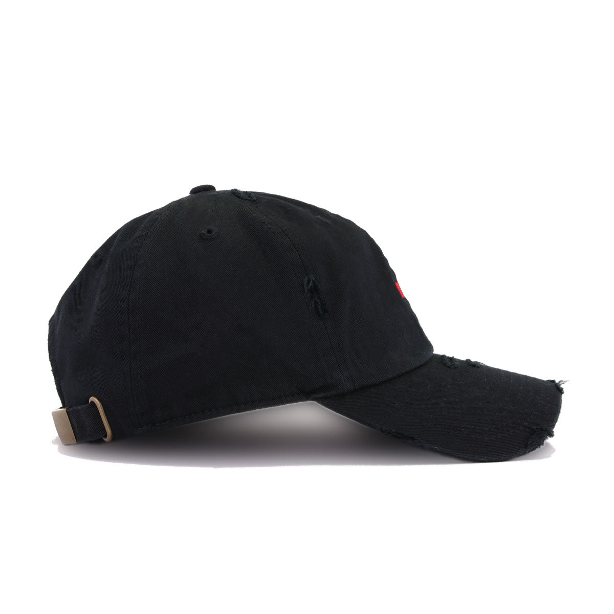 Distressed NASA Worm Black KBEthos Vintage Dad Hat