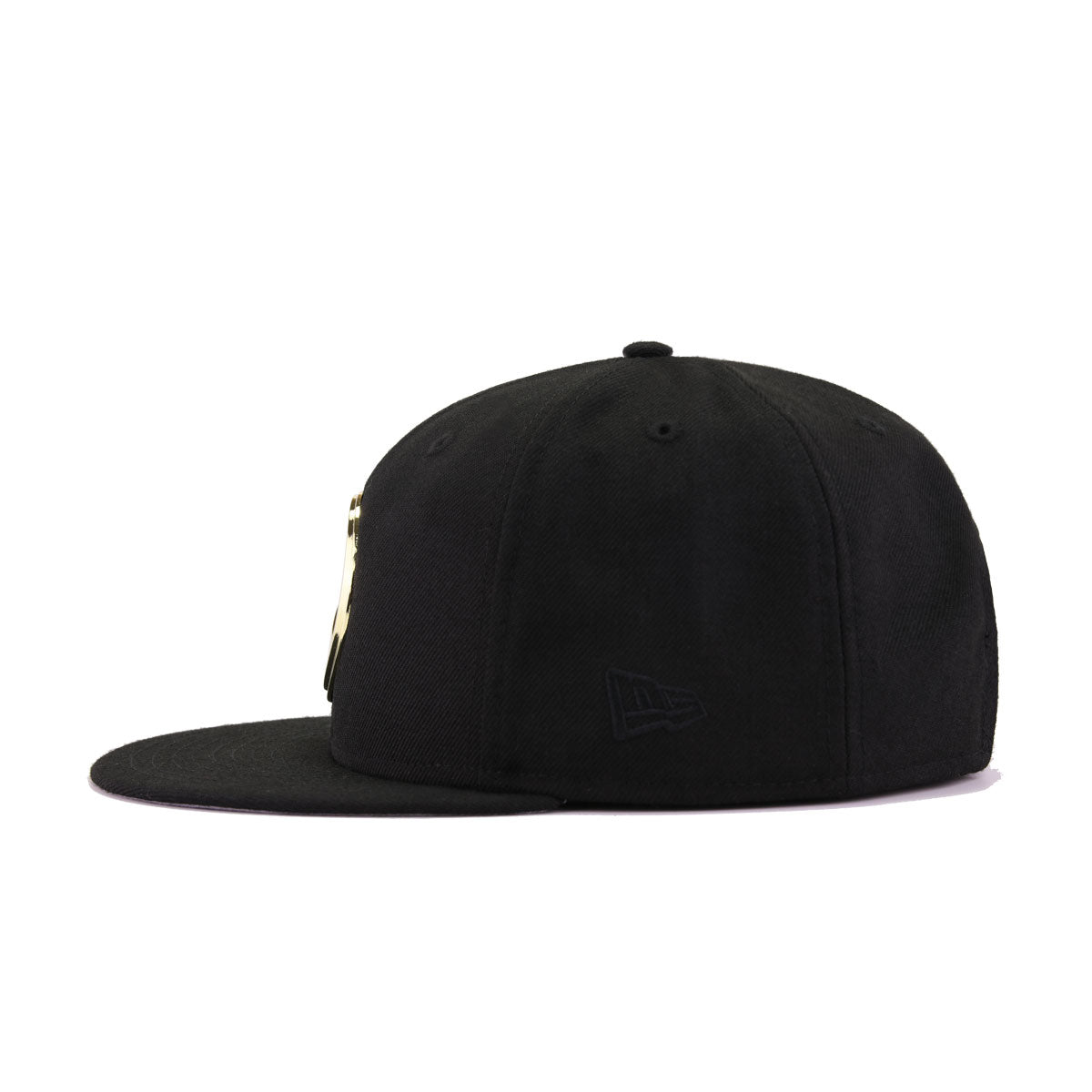 Golden State Warriors Black Gold Metal Badge New Era 9Fifty Snapback