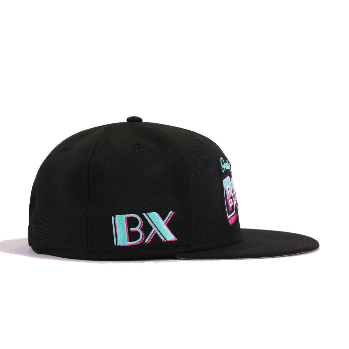 Hat Heaven Greetings From The Bronx Black Beet Root Purple Aqua New Era 9Fifty Snapback
