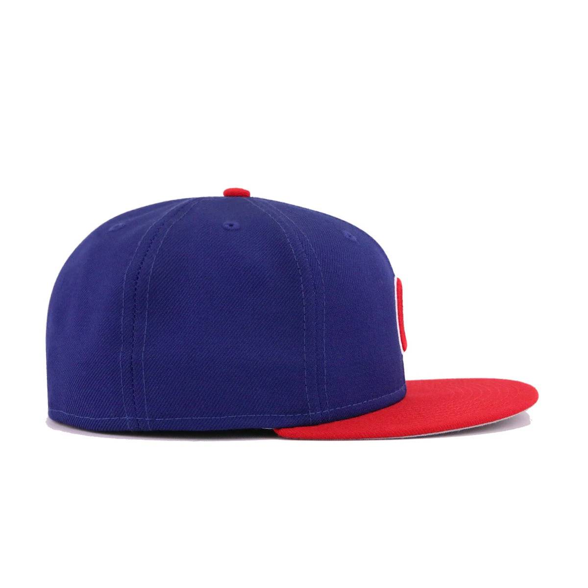 Chicago Cubs Dark Royal Blue Scarlet New Era 59Fifty Fitted