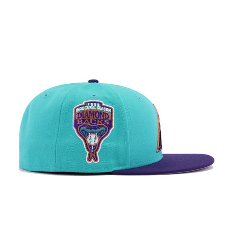 Arizona Diamondbacks Teal Deep Purple 1998 Inaugural Season New Era 59Fifty Fitted