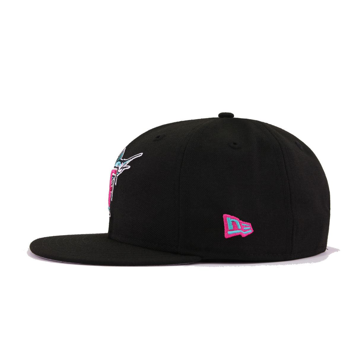Florida Marlins Black Aqua Beet Root Purple 1993 Inaugural Season New Era 9Fifty Snapback