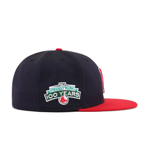 2d7725c9460 Boston Red Sox Navy Scarlet Fenway Park 100th Anniversary New Era 59Fifty  Fitted
