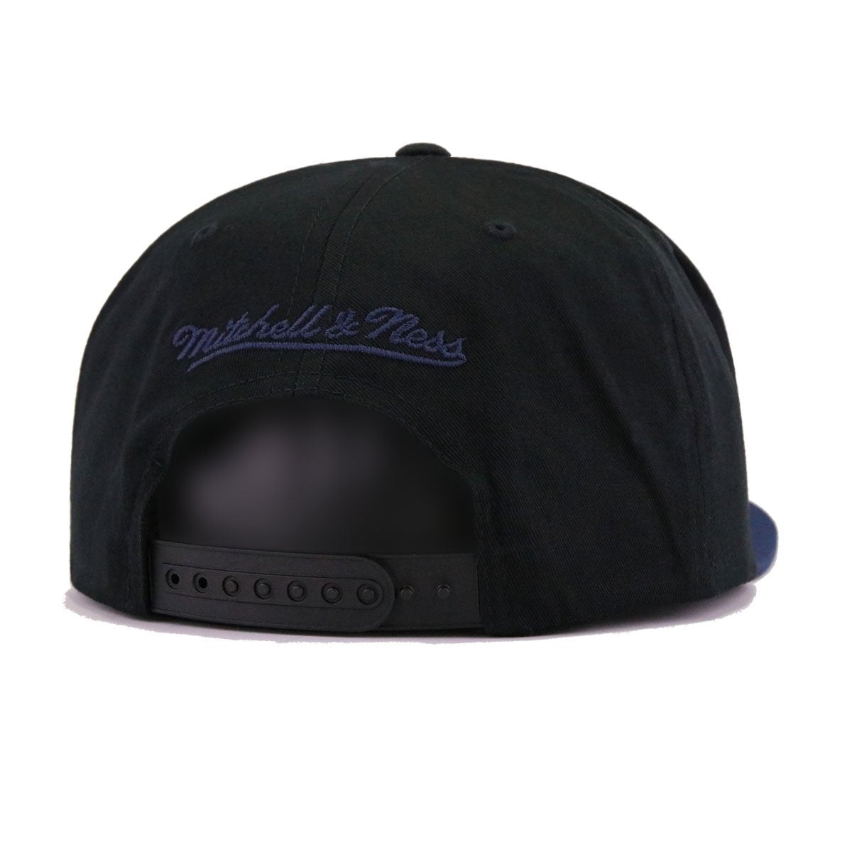 Denver Nuggets Black Navy Mitchell and Ness Flexfit Snapback