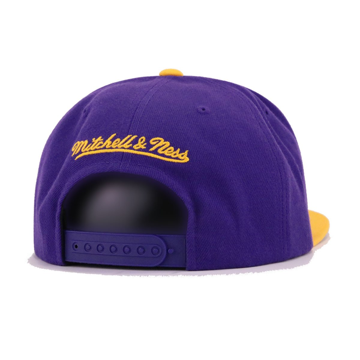Los Angeles Lakers Deep Purple A's Gold Mitchell and Ness Snapback