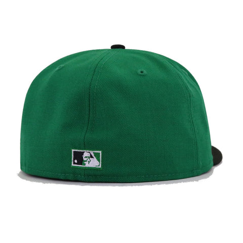 Boston Braves Kelly Green Black New Era 59Fifty Fitted