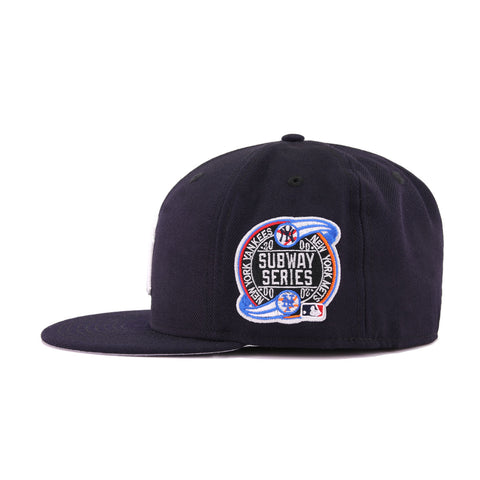 cefba1bab4f New York Yankees Navy Cooperstown NY Subway Series New Era 59Fifty Fitted