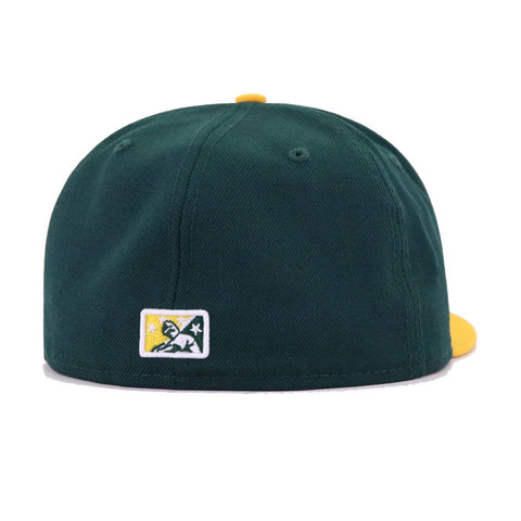 Stockton Ports Dark Green A's Gold New Era 59Fifty Fitted