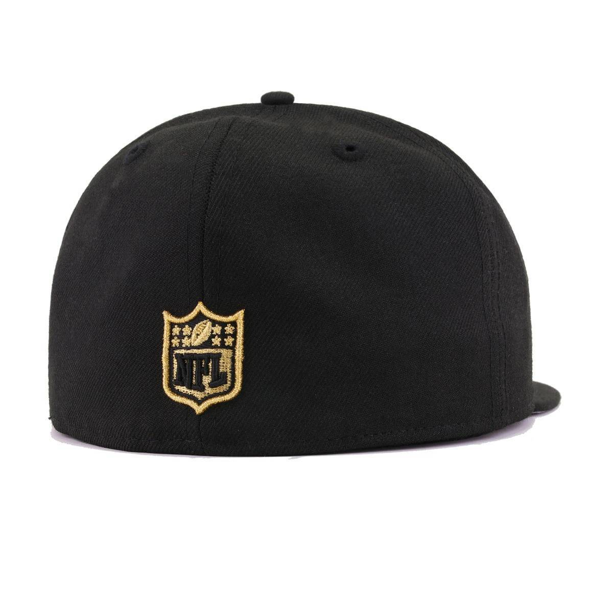 New England Patriots Black Metallic Gold New Era 59Fifty Fitted