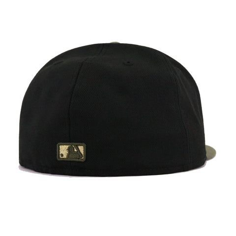 New York Yankees Black New Olive Gold Metal Badge New Era 59Fifty Fitted