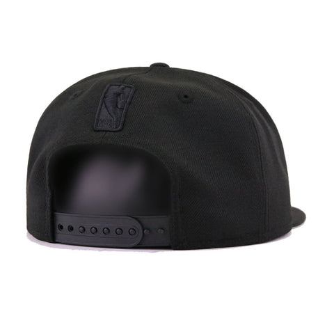 449ef909e94 New York Knicks Black on Black New Era 9Fifty Snapback