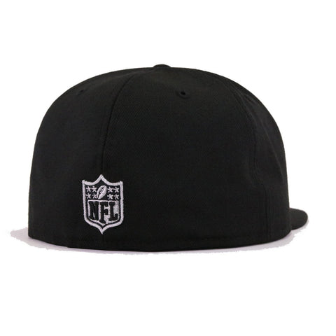 Oakland Raiders Black Sideline New Era 59Fifty Fitted