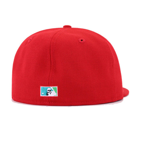 Tampa Bay Rays Scarlet Cooperstown New Era 59Fifty Fitted