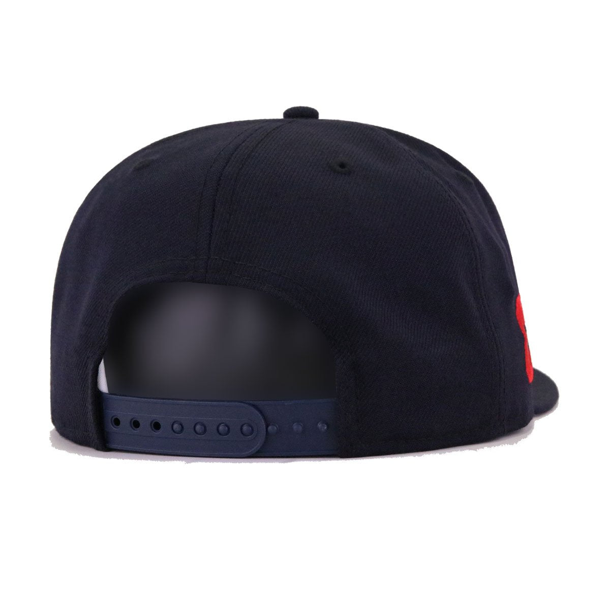 Cleveland Indians Navy Chief Wahoo Double Primary New Era 9Fifty Snapback