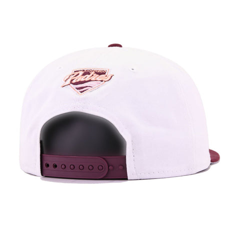 San Diego Padres White Maroon New Era 9Fifty Snapback