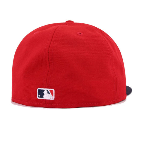 Boston Red Sox Scarlet Navy Cooperstown New Era 59Fifty Fitted