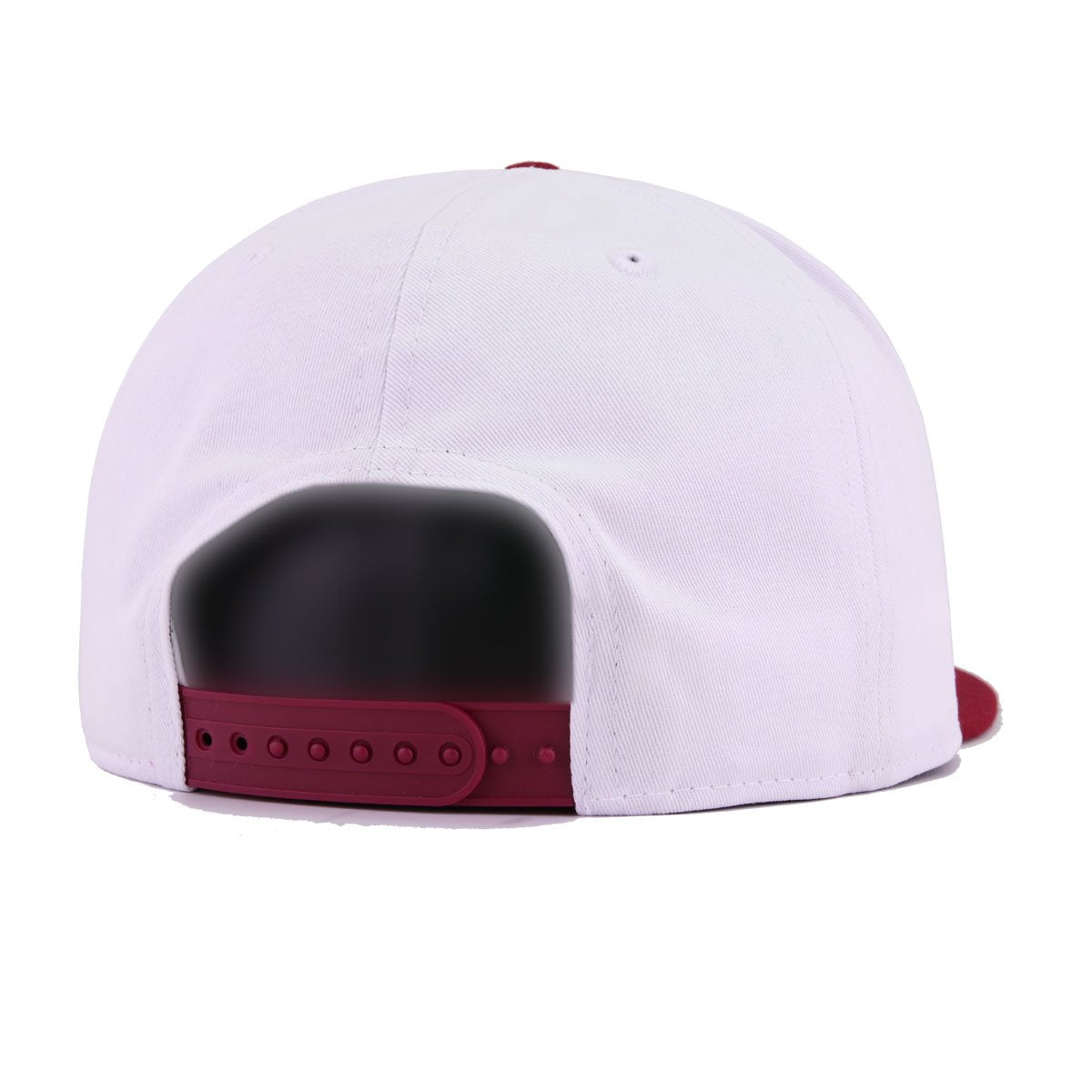 Denver Nuggets White Twill Cardinal Red New Era 9Fifty Snapback