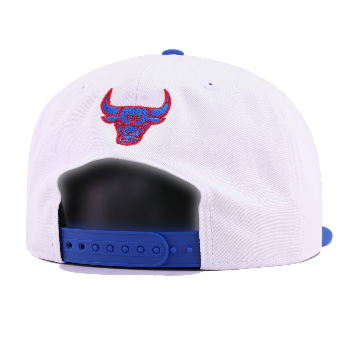 Chicago Bulls White Twill Blue Azure Elephant Print Front Door Red New Era 9Fifty Snapback
