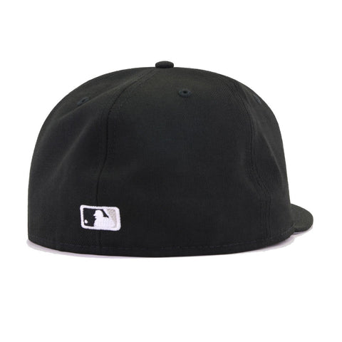 Chicago White Sox Black Cooperstown AC New Era 59Fifty Fitted