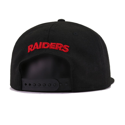 Las Vegas Raiders Black Scarlet New Era 9Fifty Snapback