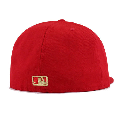 Boston Red Sox Scarlet Gold Metal Badge New Era 59Fifty Fitted