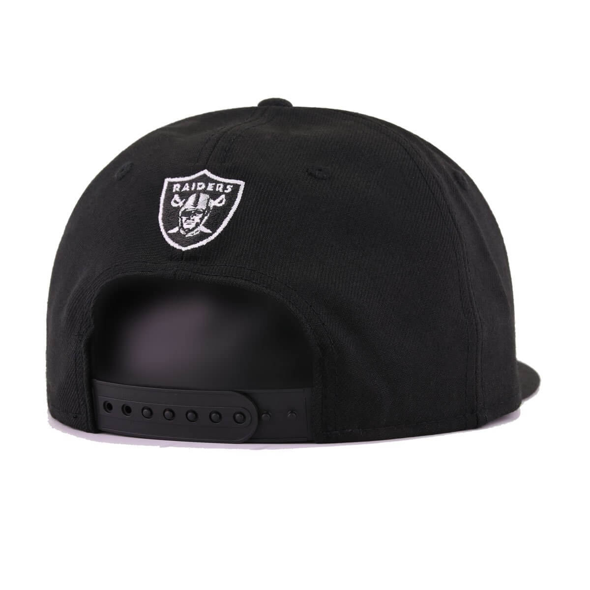 Oakland Raiders Black White Classic Wordmark New Era 9Fifty Snapback