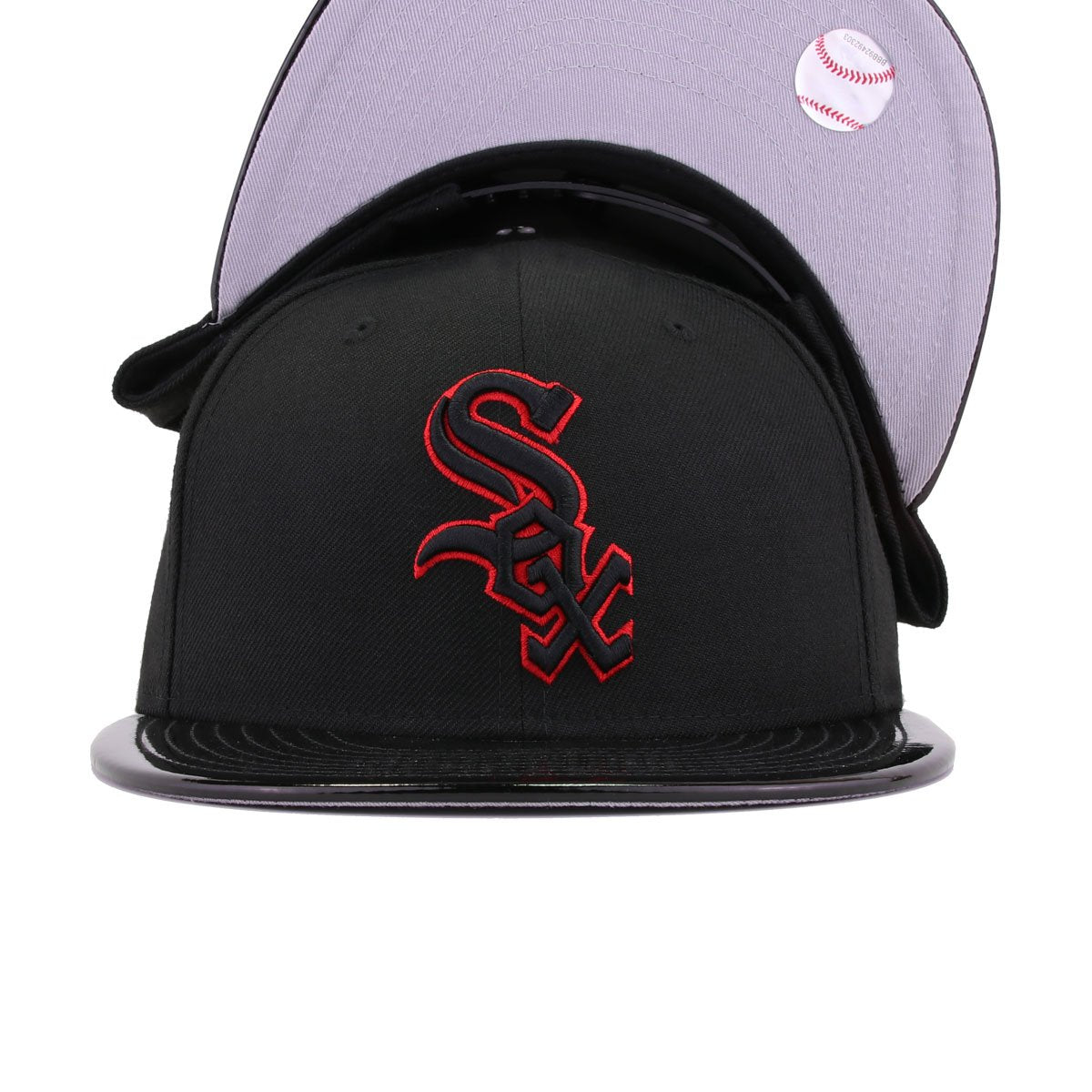 Chicago White Sox Black Patent Leather New Era 9Fifty Snapback