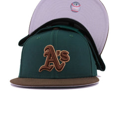 Oakland Athletics Dark Green Walnut New Era 9Fifty Snapback