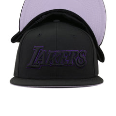 Los Angeles Lakers Black Concord City Series New Era 59Fifty Fitted
