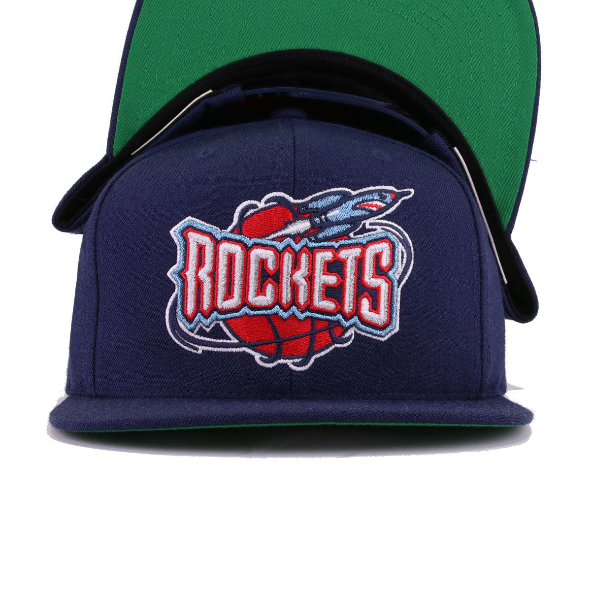 Houston Rockets Navy Hardwood Classic Mitchell and Ness Snapback