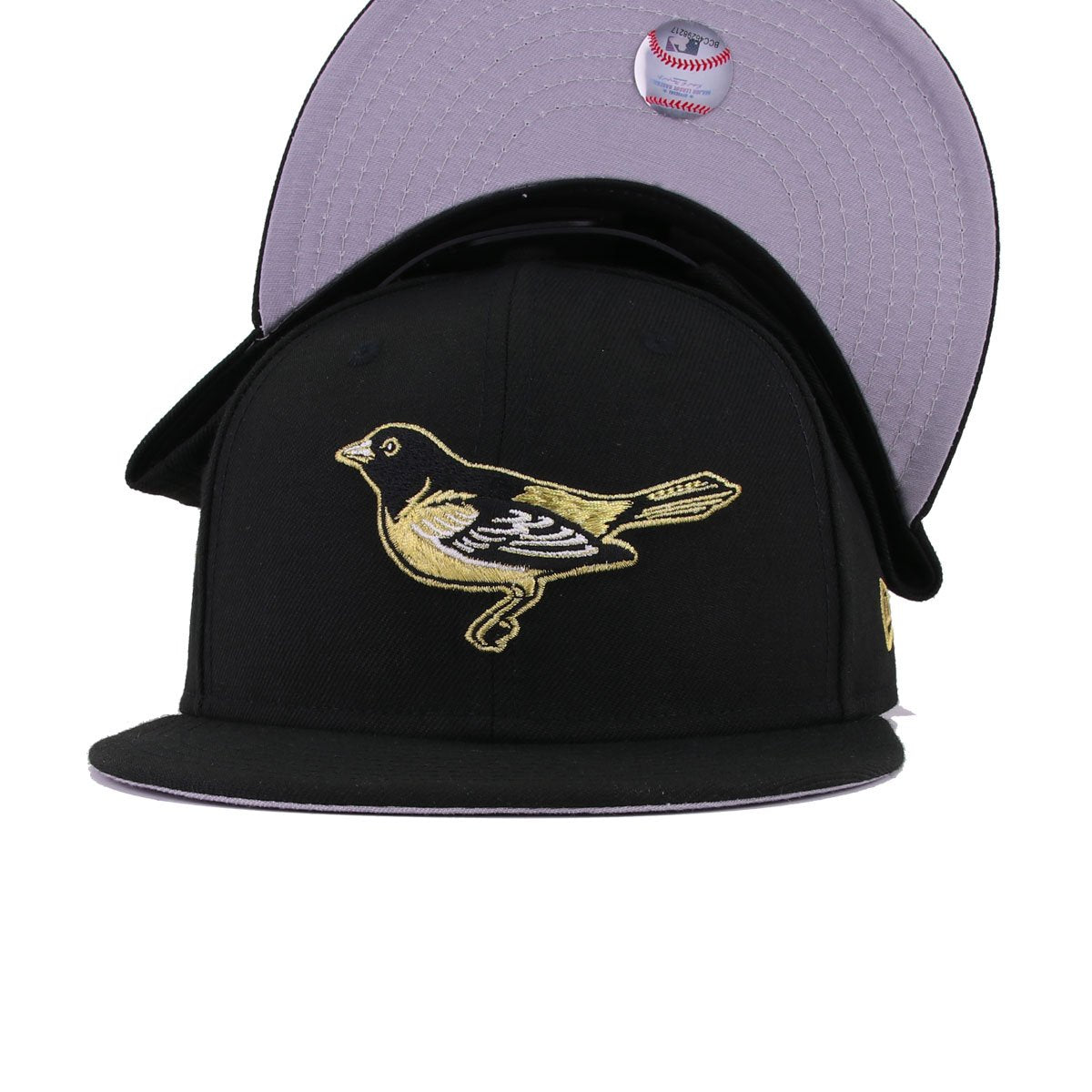 Baltimore Orioles Black Metallic Gold New Era 9Fifty Snapback