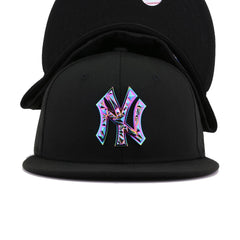 New York Yankees Black Colorshift Metal Badge New Era 59Fifty Fitted