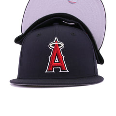 Los Angeles Angels Navy Scarlet Metallic Silver New Era 59Fifty Fitted