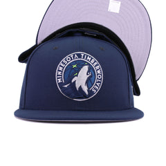Minnesota Timberwolves Oceanside Blue Action Green New Era 59Fifty Fitted