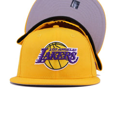 Los Angeles Lakers A's Gold New Era 9Fifty Snapback