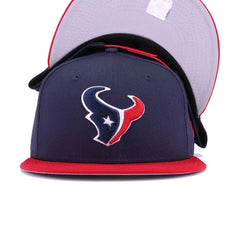 Houston Texans Oceanside Blue Front Door Red New Era 9Fifty Snapback