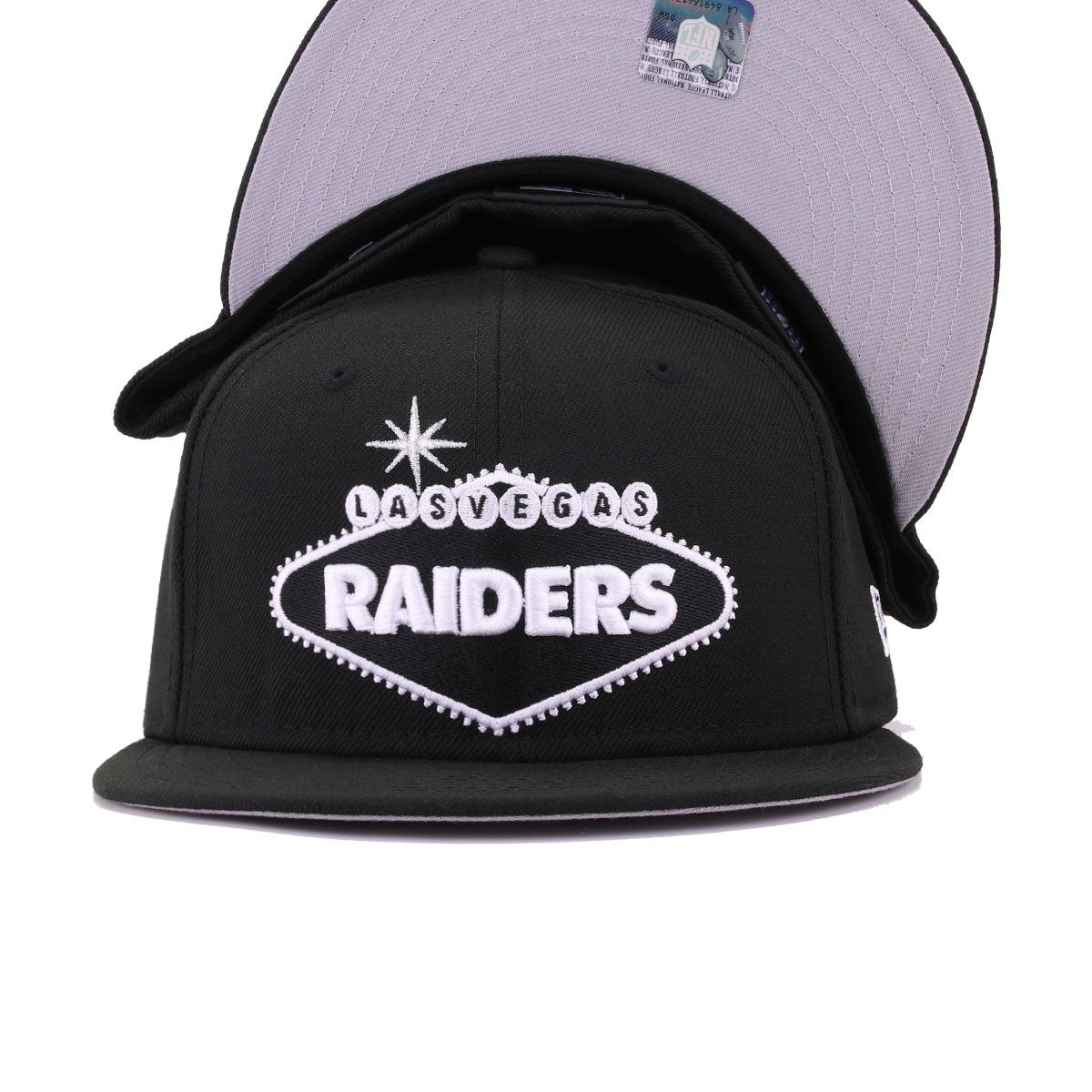 Las Vegas Raiders Black Welcome to Las Vegas New Era 59Fifty Fitted