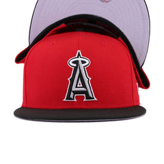Los Angeles Angels Scarlet Black New Era 9Fifty Snapback