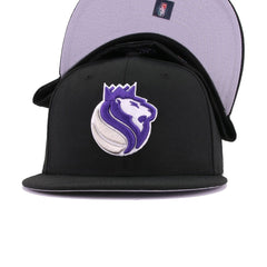 Sacramento Kings Black Metallic Silver Purple Maze New Era 59Fifty Fitted