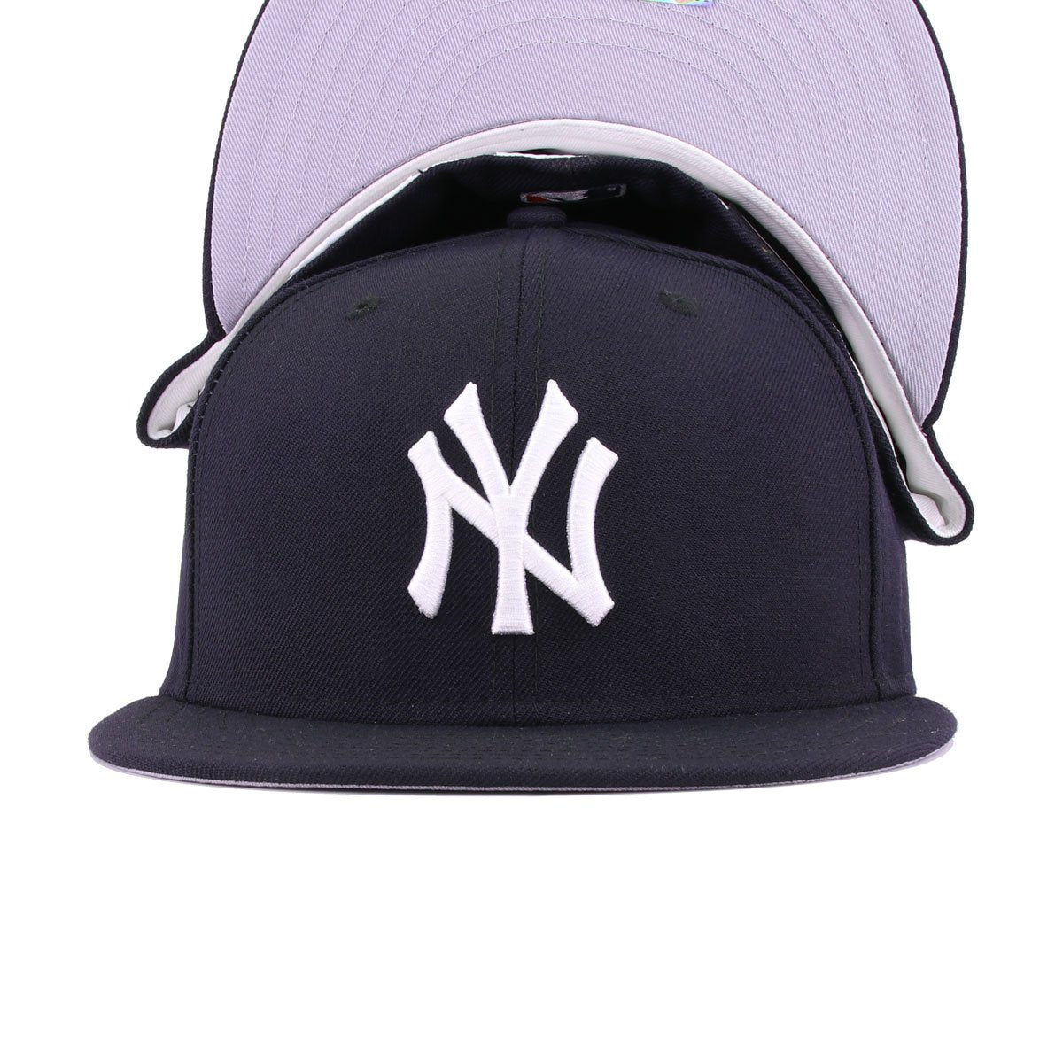 "New Era 59FIFTY New York Mets /""Yankee Hater/"" Fitted Hat Cap All NAVY//White"