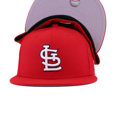 St Louis Cardinals Scarlet 2011 World Series Champions New Era 59Fifty Fitted