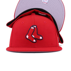 Boston Red Sox Scarlet Socks New Era 59Fifty Fitted
