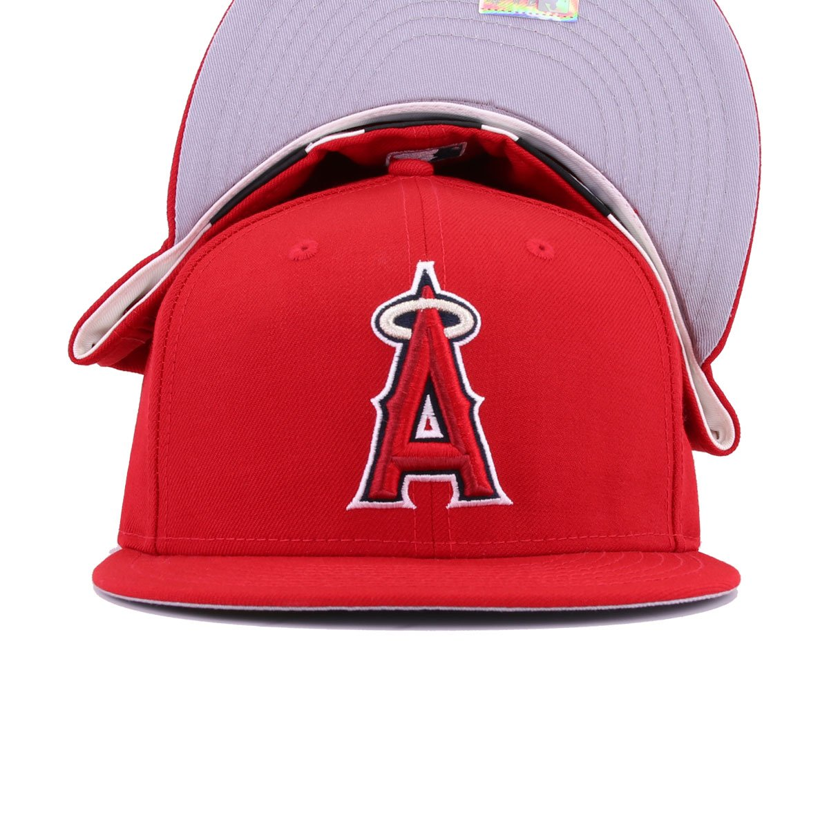 Los Angeles Angels Scarlet Cooperstown New Era 59Fifty Fitted