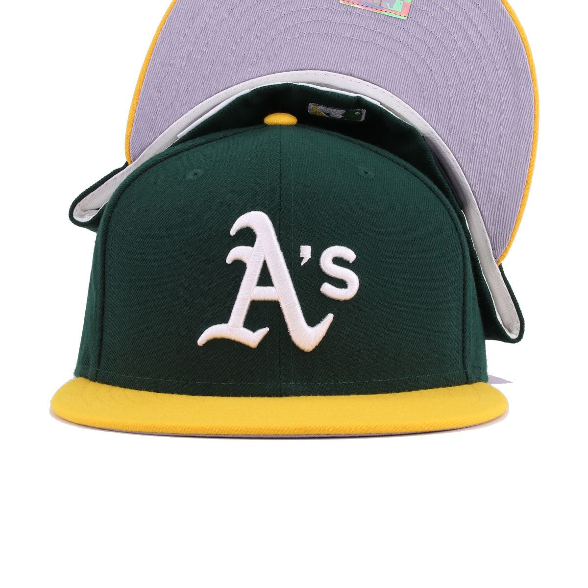 Oakland Athletics Dark Green A's Gold Cooperstown New Era 59Fifty Fitted