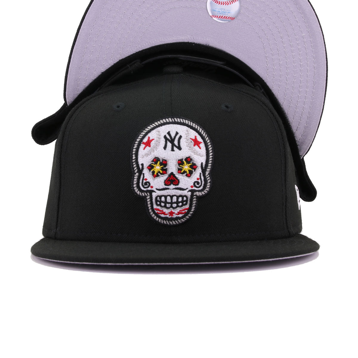 New York Yankees Black Sugar Skull New Era 9Fifty Snapback