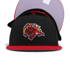 Florida Fire Frogs Black Scarlet New Era 9Fifty Snapback