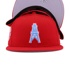 Houston Oilers Front Door Red New Era 9Fifty Snapback