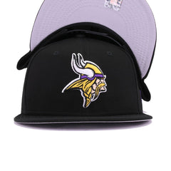Minnesota Vikings Black New Era 9Fifty Snapback